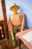 Homemade scarecrow made from straws Royalty Free Stock Photo