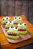Homemade scary halloween edible monsters for Stock Photography