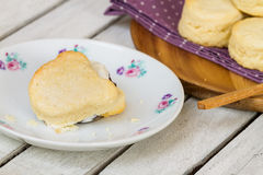 Homemade scone Royalty Free Stock Images