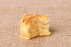Homemade scones on sackcloth background Stock Photos