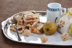 Homemade seasonal fruity pie with crumble Royalty Free Stock Photos