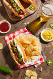 Homemade Seattle Style Hot Dog Stock Images