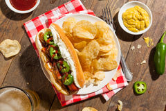 Homemade Seattle Style Hot Dog Royalty Free Stock Photos