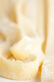 Homemade semolina tagliatelle Stock Photos