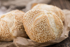 Homemade Sesame Buns Stock Photography