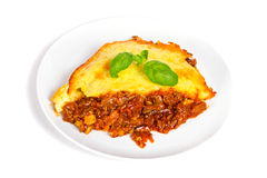 Homemade Shepherds pie with beef Royalty Free Stock Photography