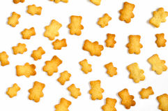 Homemade shortbread bear cookies pattern top view Stock Images
