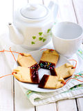 Homemade shortbread biscuits Stock Photo