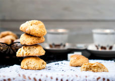 Homemade shortbread cookies and a cup of coffee Royalty Free Stock Image