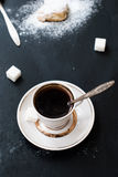 Homemade shortbread cookies and a cup of coffee Stock Photos