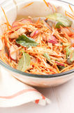 Homemade shredded carrot and chicken salad Royalty Free Stock Photo