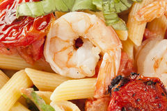 Homemade Shrimp Pasta Royalty Free Stock Photography