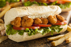 Homemade Shrimp Po Boy Sandwich Stock Images