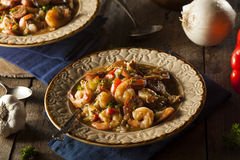 Homemade Shrimp and Sausage Cajun Gumbo Royalty Free Stock Photography