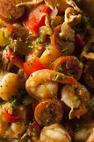 Homemade Shrimp and Sausage Cajun Gumbo Royalty Free Stock Images