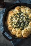 Homemade Skillet Bread with Artichoke Dip Royalty Free Stock Photos