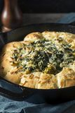 Homemade Skillet Bread with Artichoke Dip Royalty Free Stock Image