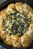 Homemade Skillet Bread with Artichoke Dip Stock Photography