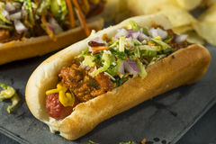 Homemade Slaw Hot Dog Royalty Free Stock Image