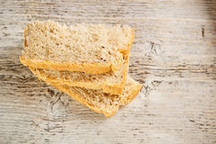 Homemade sliced bread Stock Images