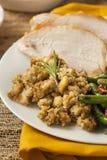 Homemade Sliced Turkey Breast. For Thanksgiving Dinner stock image