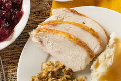 Homemade Sliced Turkey Breast royalty free stock photos