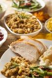 Homemade Sliced Turkey Breast. For Thanksgiving Dinner stock images