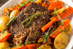 Homemade Slow Cooker Pot Roast Royalty Free Stock Photos