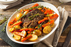 Homemade Slow Cooker Pot Roast Royalty Free Stock Image