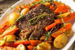 Homemade Slow Cooker Pot Roast Stock Photo