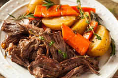Homemade Slow Cooker Pot Roast stock photos