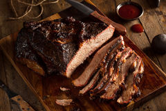 Homemade Smoked Barbecue Beef Brisket royalty free stock photos