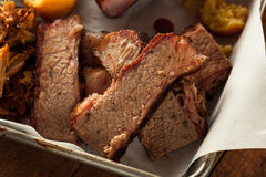 Homemade Smoked Barbecue Beef Brisket Stock Image