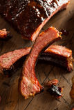 Homemade Smoked Barbecue Pork Ribs Stock Images