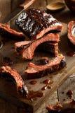 Homemade Smoked Barbecue Pork Ribs Royalty Free Stock Image