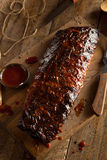 Homemade Smoked Barbecue Pork Ribs Stock Photography