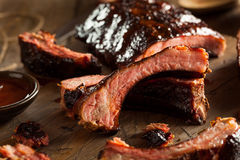 Homemade Smoked Barbecue Pork Ribs Royalty Free Stock Photo