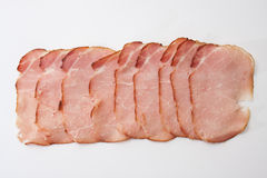 Homemade smoked ham on a white background Stock Image