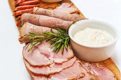 Homemade smoked meat stock photography
