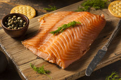 Homemade Smoked Salmon Appetizer Stock Images