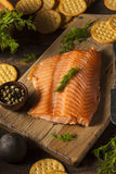 Homemade Smoked Salmon Appetizer Stock Photography
