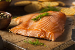 Homemade Smoked Salmon Appetizer Royalty Free Stock Images