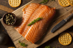 Homemade Smoked Salmon Appetizer Royalty Free Stock Photos