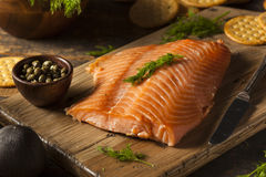 Homemade Smoked Salmon Appetizer Royalty Free Stock Image