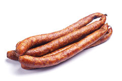 Homemade smoked sausage Royalty Free Stock Photography