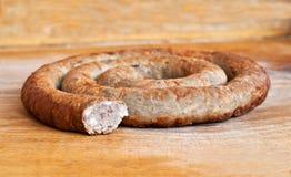 Homemade smoked sausage Royalty Free Stock Images