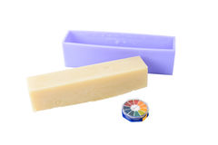 Homemade soap bar and litmus paper Royalty Free Stock Image