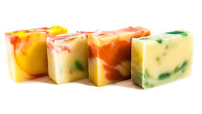 Homemade soap bars Stock Photo