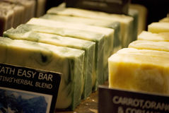 Homemade soaps Stock Images