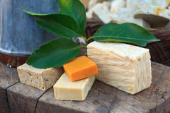 Homemade soaps. Photo of natural Homemade soaps stock photography
